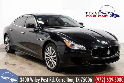 2016 Maserati Quattroporte S Q4 AWD BLIND SPOT MONITORING NAVIGATION SUNROOF LEATHER HEATED Carrollton TX