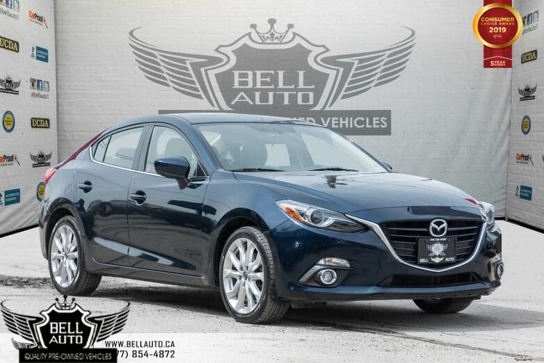 2016 Mazda Mazda3 GT, HEADS UP DISPLAY, NAVI, BACK-UP CAM, LEATHER, SUNROOF Toronto ON
