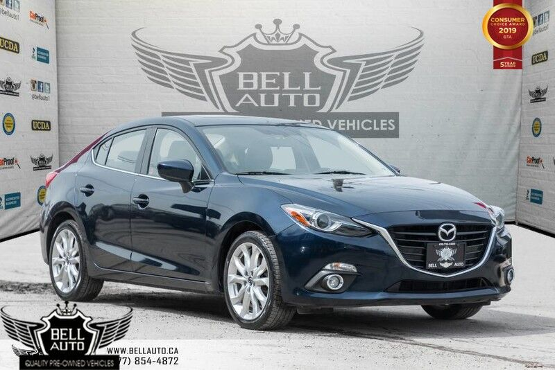 2016 Mazda Mazda3 GT, HEADS UP DISPLAY, NAVI, BACK-UP CAM, LEATHER, SUNROOF