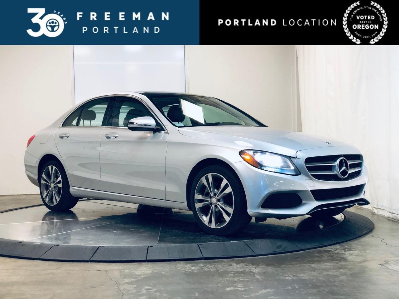 2016 Mercedes-Benz C 300 4MATIC Pano Blind Spot Assist Htd Steering Wheel Portland OR