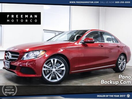 2016_Mercedes-Benz_C 300_Pano Backup Cam Blind Spot Assist Heated Sts_ Portland OR