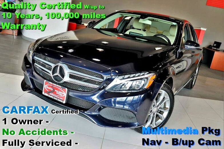 2016 Mercedes-Benz C-Class C 300 Sport 4MATIC - CARFAX Certified 1 Owner - No Accidents - F Springfield NJ