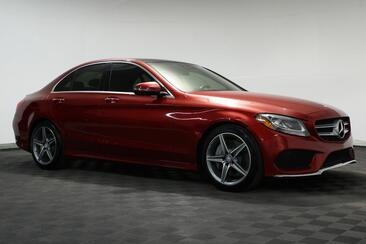 2016_Mercedes-Benz_C-Class_C 300 Sport AMG Pano Roof Blind Spot_ Houston TX