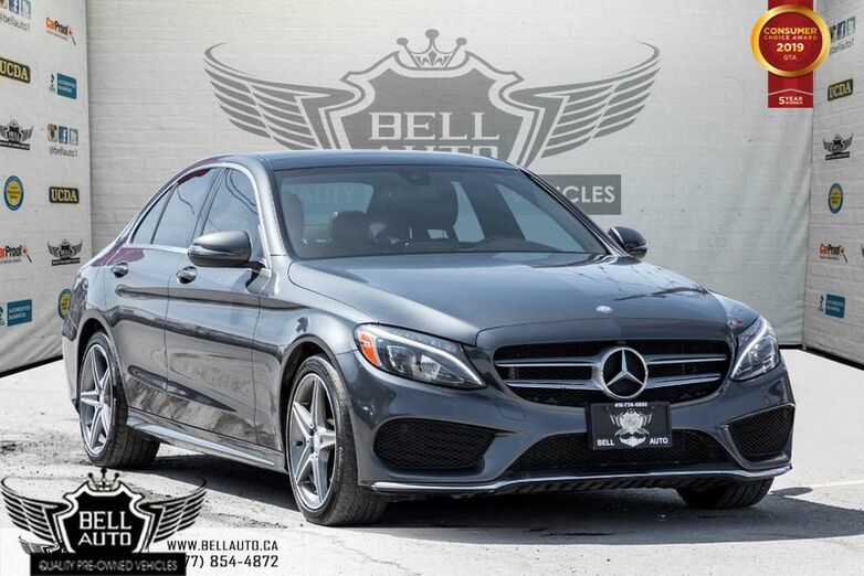 2016 Mercedes-Benz C300 AMG PKG, 4MATIC, NAVI, PANO ROOF, BLIND SPOT, COLLISION PREVENTION Toronto ON