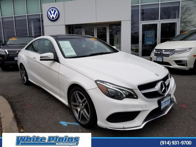 2016 Mercedes-Benz E-Class E400 4MATIC Coupe White Plains NY