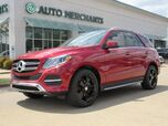 2016 Mercedes-Benz GLE-Class GLE350 4MATIC LEATHER, PANORAMIC SUNROOF, BACKUP CAM, NAVIGATION, HTD FRONT STS, KEYLESS START