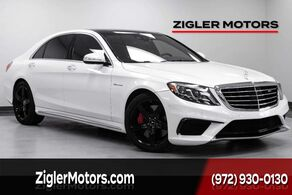 Mercedes-Benz S 63 AMG Clean Carfax 17kmi Pano Roof Diamond White 2016