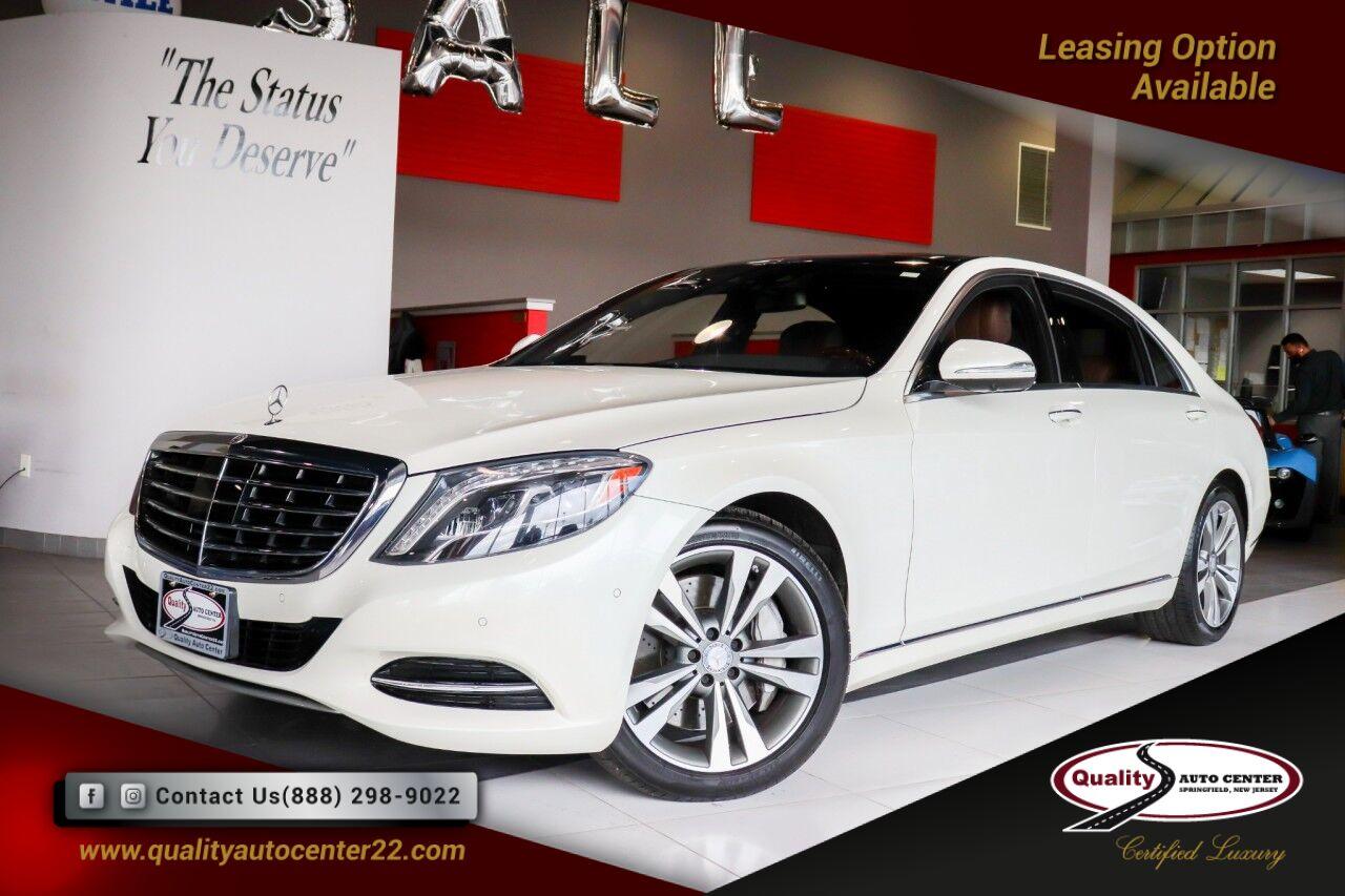 2016 Mercedes-Benz S-Class S 550 Premium 1 Pkg, Driver Assist 19'' Wheels, Nut Brown Interior Springfield NJ