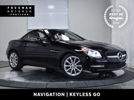2016_Mercedes-Benz_SLK 300_Convertible Blind Spot Assist Keyless Go Nav Htd Seat_ Portland OR