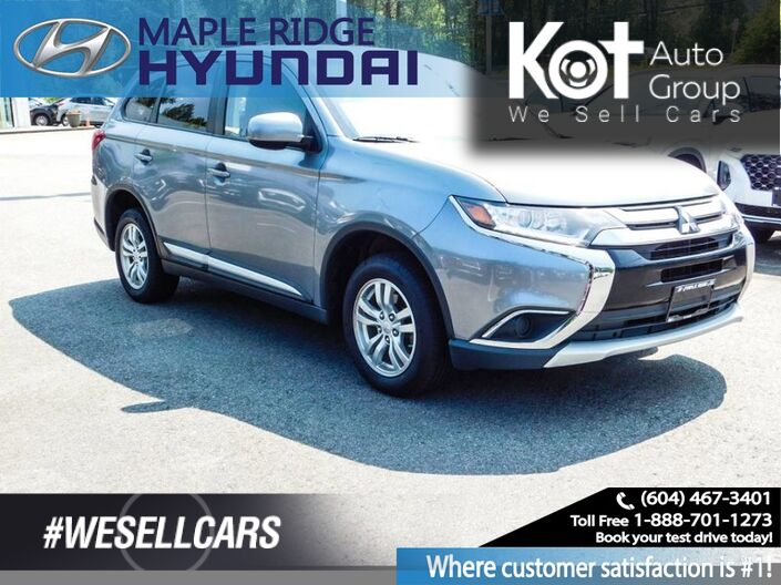 2016 Mitsubishi Outlander AWC 4Door ES Heated Seats, Bluetooth Maple Ridge BC