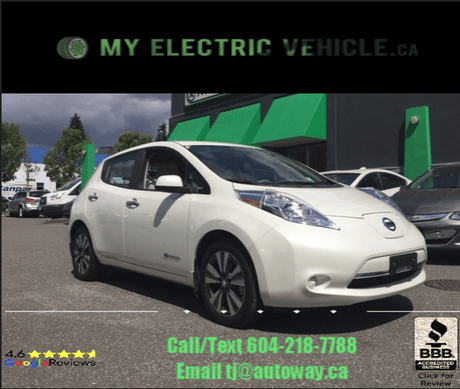 2016 Nissan Leaf SV   Quick Charge   Nav   Heated Seats Coquitlam BC