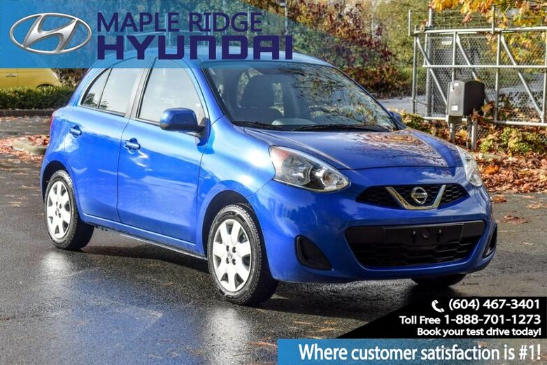 2016 Nissan Micra SV, Blue Tooth, Power group, Back Up camera, Great on Gas!!! Maple Ridge BC