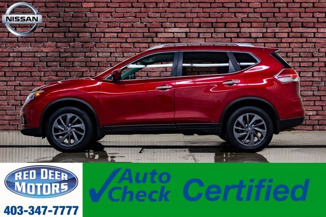 2016 Nissan Rogue AWD SL Leather Roof Nav BCam Red Deer AB