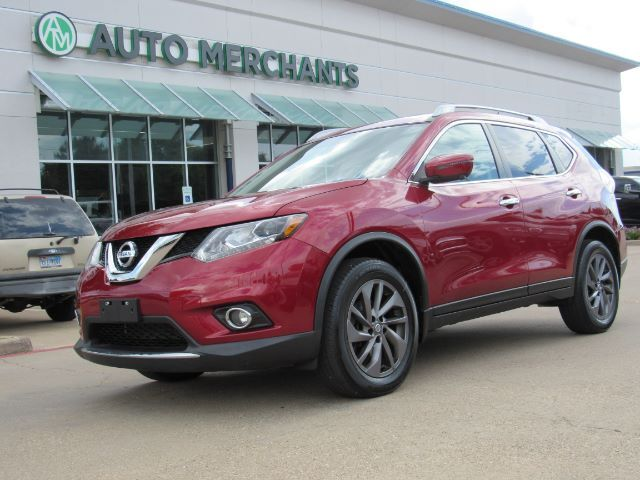 2016 Nissan Rogue SL AWD LEATHER, BLIND SPOT, KEYLESS START, BACKUP CAM, UNDER FACTORY WARRANTY Plano TX