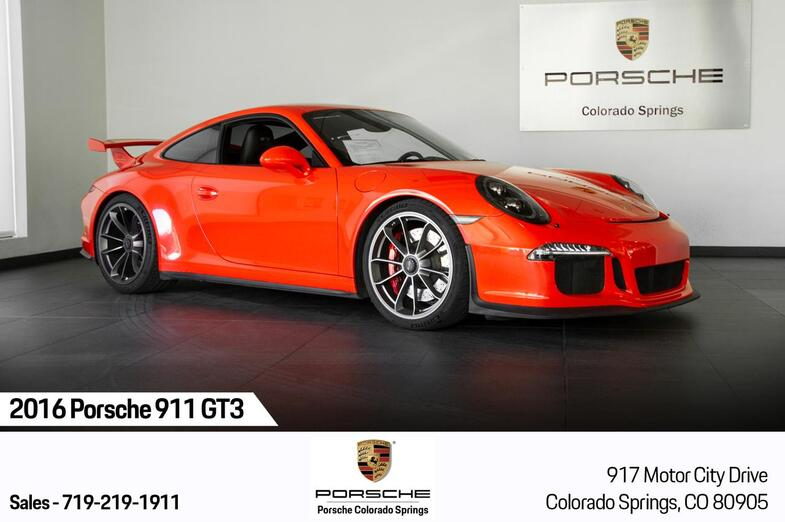 2016 Porsche 911 GT3 Colorado Springs CO