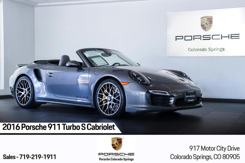 2016 Porsche 911 Turbo S Cabriolet Colorado Springs CO