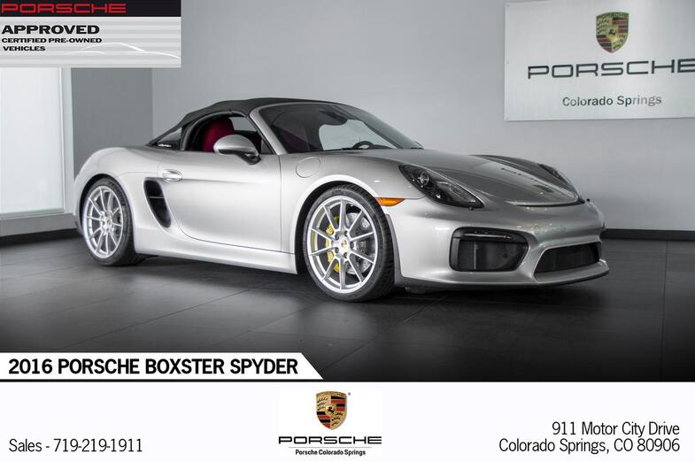 2016 Porsche Boxster Boxster Spyder Colorado Springs CO