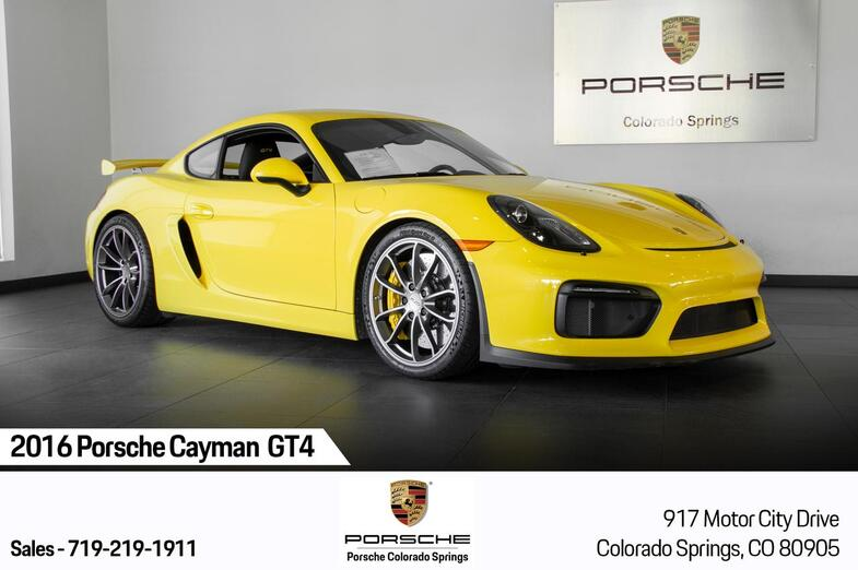 2016 Porsche Cayman Cayman GT4 Colorado Springs CO