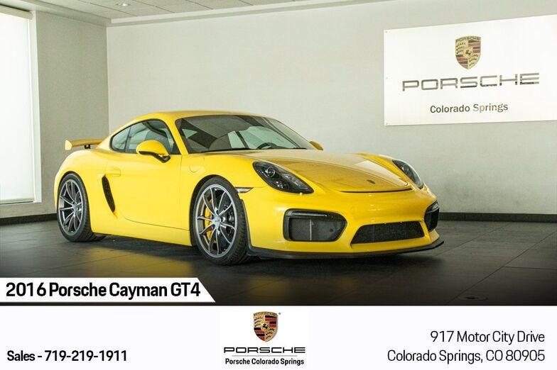 2016 Porsche Cayman GT4 Colorado Springs CO
