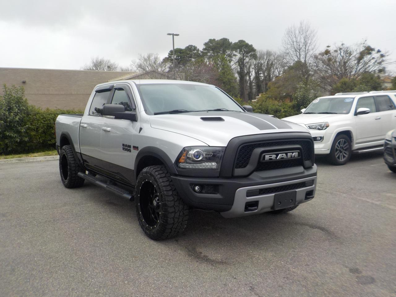 2016 RAM 1500 CREW CAB REBEL 4X4, HEMI, LEATHER & CLOTH, PREMIUM SOUND, BEDLINER, TOW PKG, ONLY 37K MILES! Virginia Beach VA