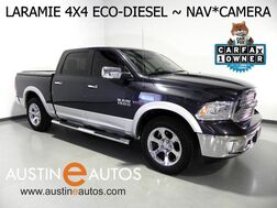 2016_Ram_1500 4WD Crew Cab Laramie_*ECO-DIESEL, NAVIGATION, BACKUP-CAM, LEATHER, CLIMATE SEATS, ALPINE AUDIO, BLUETOOTH_ Round Rock TX