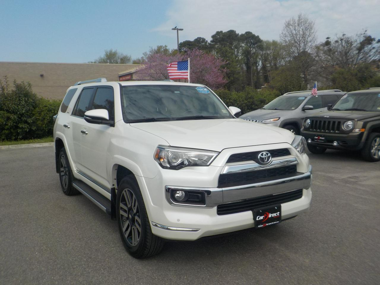 2016 TOYOTA 4RUNNER LIMITED 4X4, 3RD ROW, LEATHER HEATED & COOLED SEATS, NAVIGATION, TOW PKG,  SUNROOF, ONLY 42K MILES! Virginia Beach VA