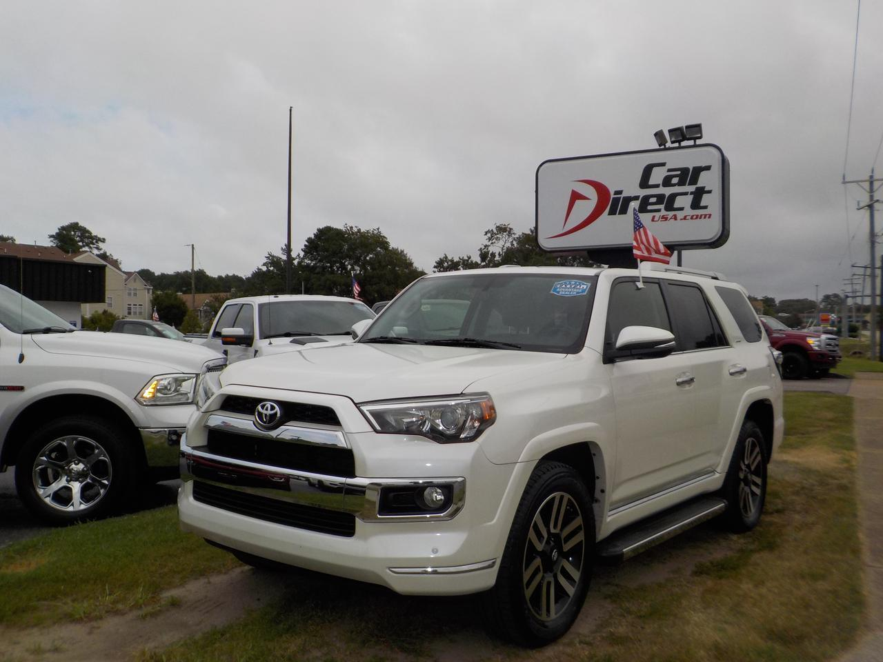 2016 TOYOTA 4RUNNER LIMITED 4X4, LEATHER, HEATED/COOLED SEATS, BACKUP CAM, PARKING SENSORS, 1 OWNER! Virginia Beach VA