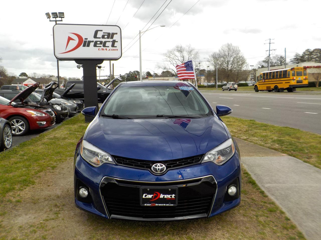 2016 TOYOTA COROLLA S PLUS CVT, WARRANTY, BLUETOOTH, BACKUP CAMERA, REAR SPOILER, AUX PORT, DAYTIME RUNNING LIGHTS! Virginia Beach VA