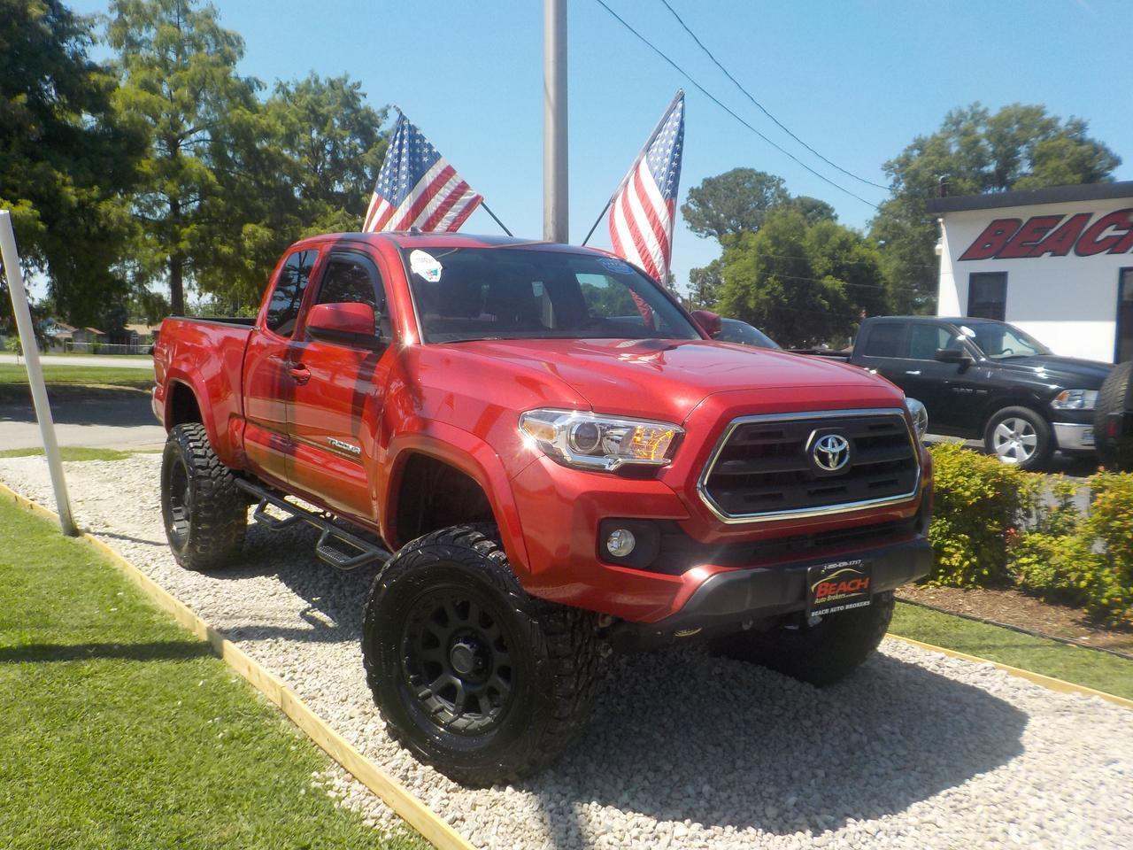 2016 Toyota Tacoma Lifted >> 2016 Toyota Tacoma Sr5 Access Cab 4x4 Warranty Lifted 2 7l Bed Liner A C Low Miles