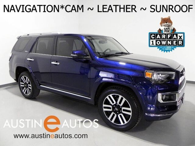 2016 Toyota 4Runner Limited *NAVIGATION, BACKUP-CAMERA, MOONROOF, LEATHER, HEATED SEATS, JBL SURROUND SOUND, BLUETOOTH PHONE & AUDIO Round Rock TX