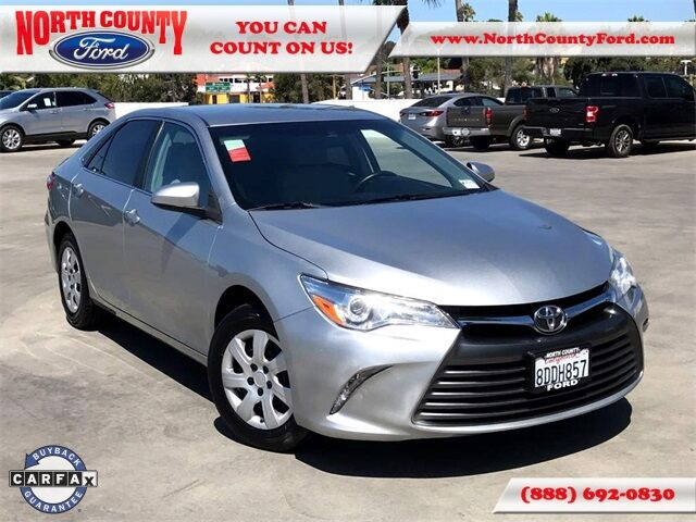 2016 Toyota Camry LE San Diego County CA