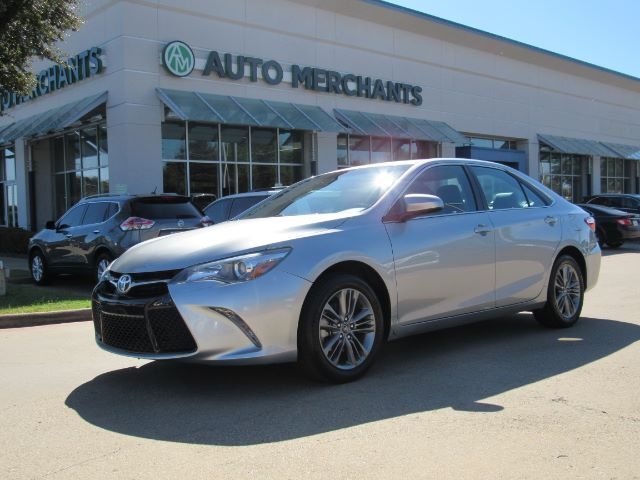 2016 Toyota Camry SE LEATHER/CLOTH, BACKUP CAMERA, BLUETOOTH CONNECTIVITY, CLIMATE CONTROL, UNDER FACTORY WARRANTY Plano TX