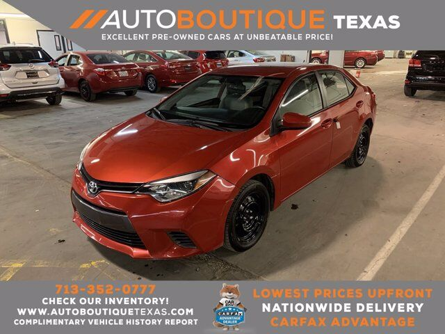 2016 Toyota Corolla LE Houston TX