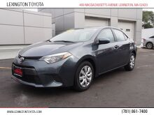 2016_Toyota_Corolla_LE_ Lexington MA