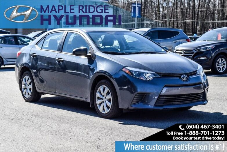 2016 Toyota Corolla LE Maple Ridge BC