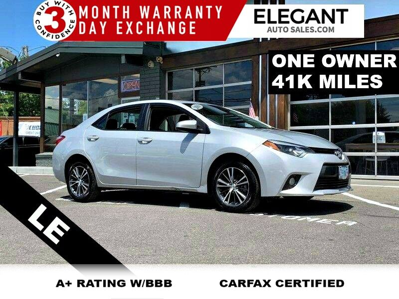 2016 Toyota Corolla LE ONE OWNER BT AUDIO PW DOOR WINDOW CLEAN