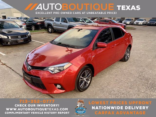 2016 Toyota Corolla LE Plus Houston TX