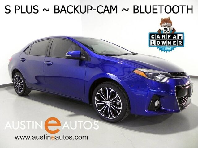 2016 Toyota Corolla S Plus *AUTOMATIC, BACKUP-CAMERA, TOUCH SCREEN, ALLOY WHEELS, SPOILER, BLUETOOTH PHONE & AUDIO Round Rock TX