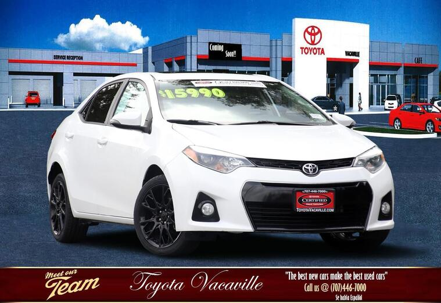 2016 Toyota Corolla S Special Edition Sedan Vacaville CA