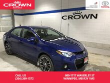 2016_Toyota_Corolla_S Tech Package / Low Kms / Local / Lease Return / Fully Loaded / Unbeatable Value_ Winnipeg MB