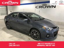 2016_Toyota_Corolla_S Upgrade Package / Local / Low Kms / Immaculate Condition / Great Value_ Winnipeg MB