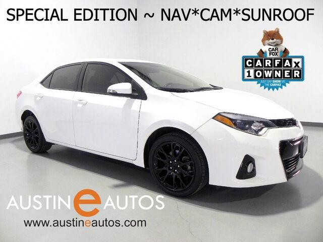 2016 Toyota Corolla S w/Special Edition Pkg *NAVIGATION, BACKUP-CAMERA, MOONROOF, KEYLESS START, TOUCH SCREEN, BLACK ALLOYS, BLUETOOTH PHONE & AUDIO Round Rock TX