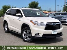2016 Toyota Highlander Hybrid Limited Platinum South Burlington VT