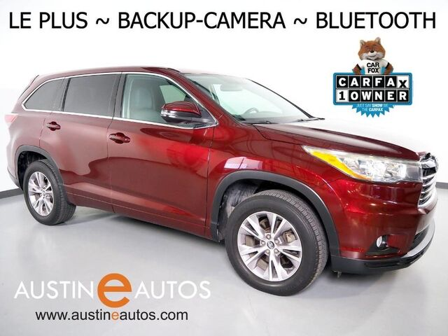 2016 Toyota Highlander LE Plus *BACKUP-CAMERA, TOUCH SCREEN, STEERING WHEEL CONTROLS, 3RD ROW, ALLOY WHEELS, BLUETOOTH PHONE & AUDIO Round Rock TX