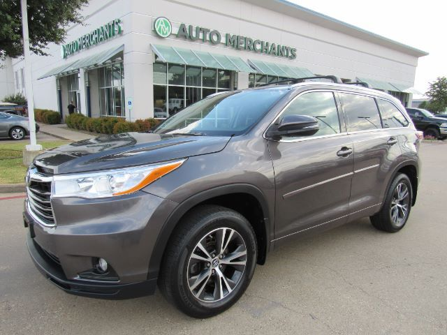 2016 Toyota Highlander XLE AWD V6 LEATHER, SUNROOF, 3RD ROW SEATING, BACKUP CAMERA, NAVIGATION, HTD FRONT STS, BLUETOOTH Plano TX