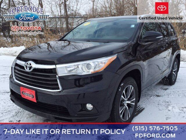 2016 Toyota Highlander XLE Fort Dodge IA
