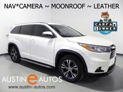 2016_Toyota_Highlander XLE_*NAVIGATION, BACKUP-CAMERA, TOUCH SCREEN, MOONROOF, LEATHER, 2ND ROW BUCKET SEATS, HEATED SEATS, BLUETOOTH PHONE & AUDIO_ Round Rock TX
