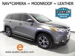 2016 Toyota Highlander XLE *NAVIGATION, BACKUP-CAMERA, TOUCH SCREEN, MOONROOF, LEATHER, 2ND ROW BUCKET SEATS, HEATED SEATS, BLUETOOTH PHONE & AUDIO