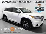 2016 Toyota Highlander XLE *NAVIGATION, BACKUP-CAMERA, TOUCH SCREEN, MOONROOF, LEATHER, HEATED SEATS, ALLOY WHEELS, BLUETOOTH PHONE & AUDIO