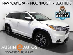 2016_Toyota_Highlander XLE_*NAVIGATION, BACKUP-CAMERA, TOUCH SCREEN, MOONROOF, LEATHER, HEATED SEATS, ALLOY WHEELS, BLUETOOTH PHONE & AUDIO_ Round Rock TX